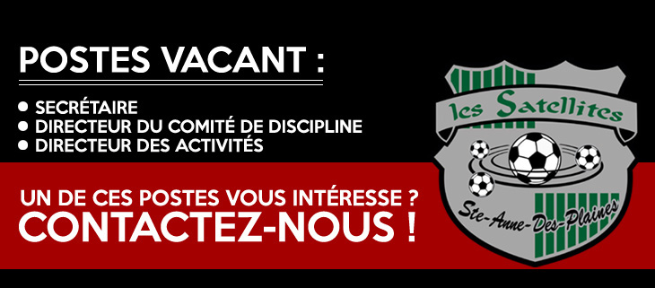 poste vacant soccer sadp